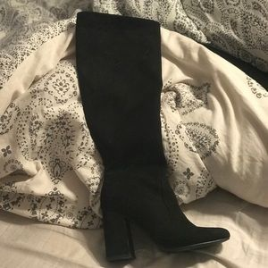 Knee high black boots